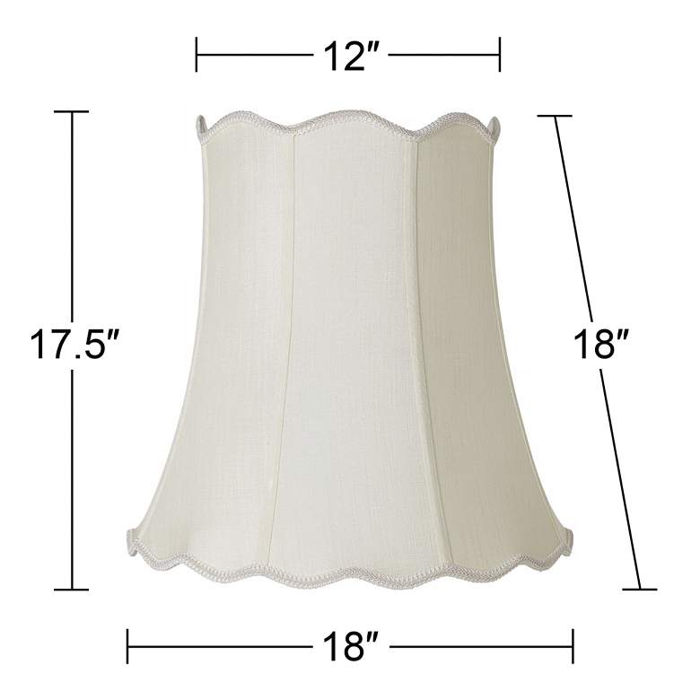 Imperial Creme Scallop Bell Lamp Shade 12x18x18 (Spider) more views