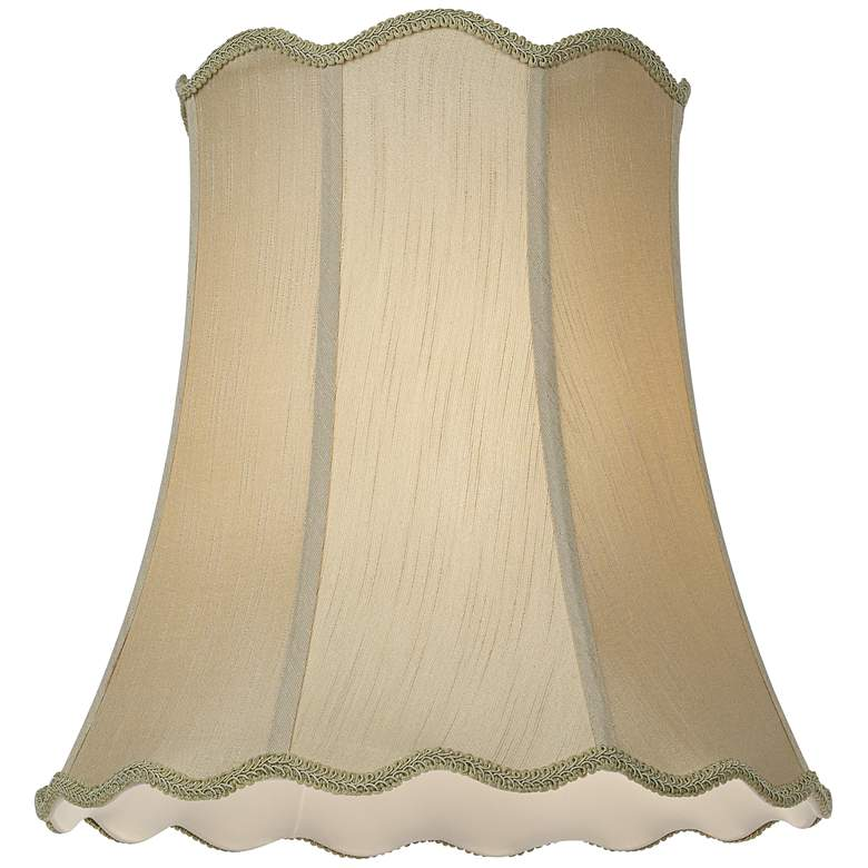 Imperial Taupe Scallop Bell Lamp Shade 12x18x18 (Spider) more views