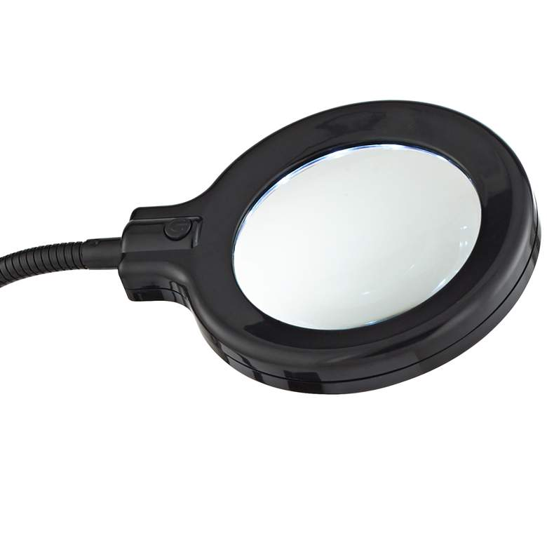 LED Gooseneck Clip Light with Magnifier Lens more views