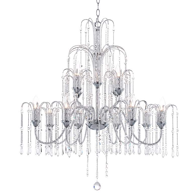 "Crystal Rain Collection 33"" Wide Large Crystal Chandelier more views"