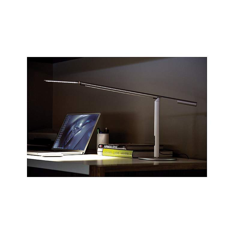 Gen 3 Equo Warm Light LED Silver Desk Lamp with Touch ...