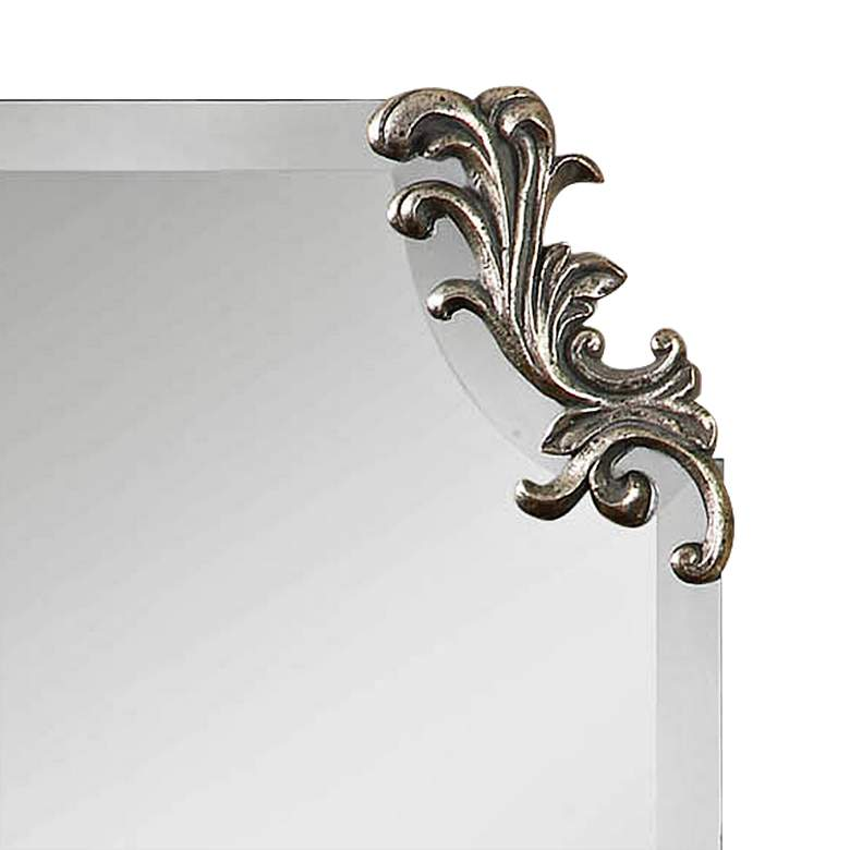 "Andretta Antiqued Silver 19 1/4"" x 29 1/4"" Wall Mirror more views"