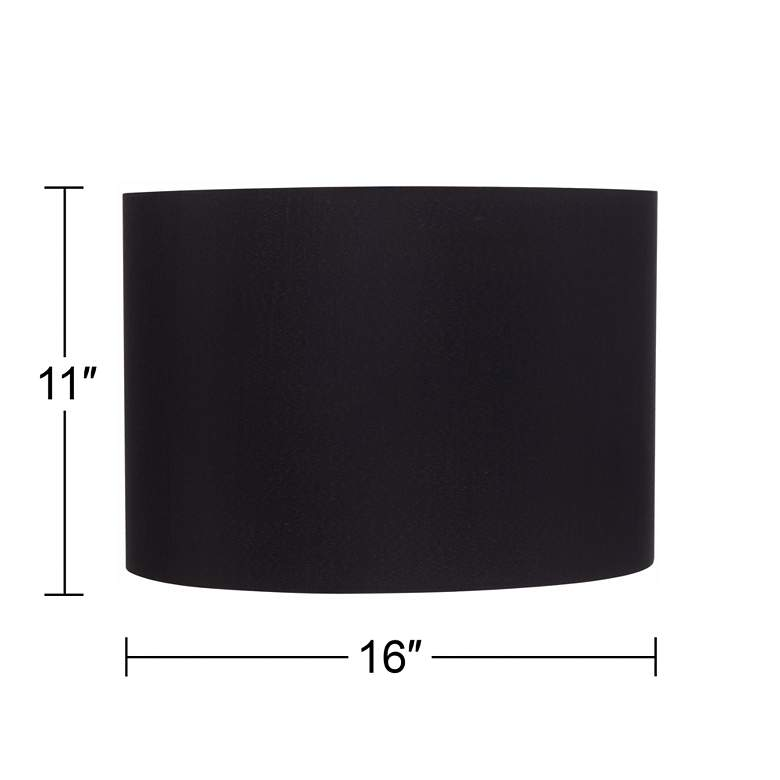 Black Hardback Drum Shade 16x16x11 (Spider) more views