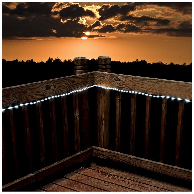 Solar 23 Foot Long LED White Rope Lights more views