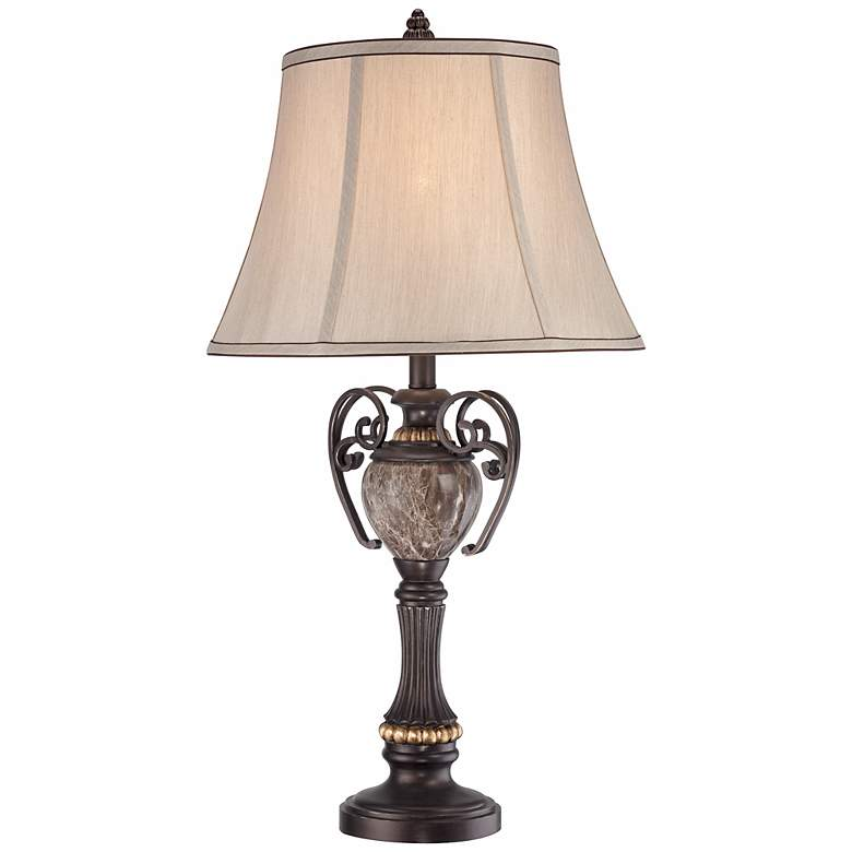 Kathy Ireland Belvedere Manor Bronze Table Lamp more views