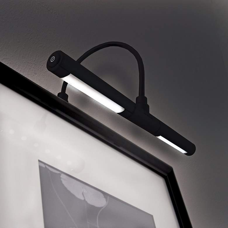 "Black Battery Powered 13""W Dimmable Picture Light more views"
