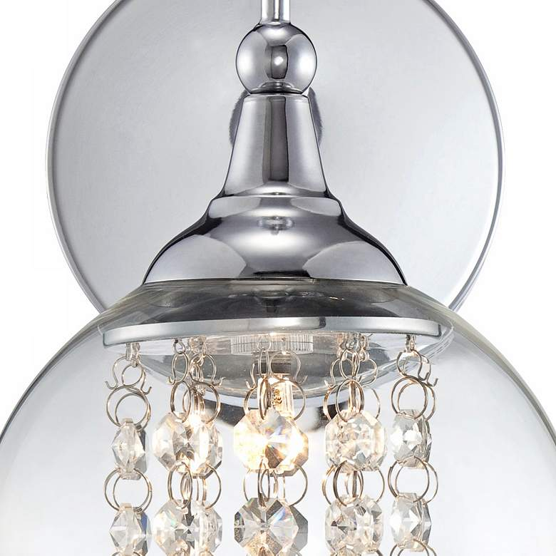 "Possini Euro Crystal Rainfall 10"" High Chrome Wall Sconce more views"