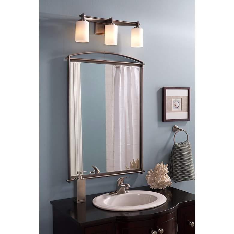 "Quoizel Taylor 21"" Wide Antique Nickel Bathroom Light more views"