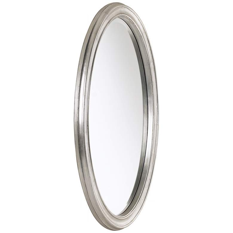 "Flanders Antique Silver 23 1/2"" x 34"" Oval Wall Mirror more views"