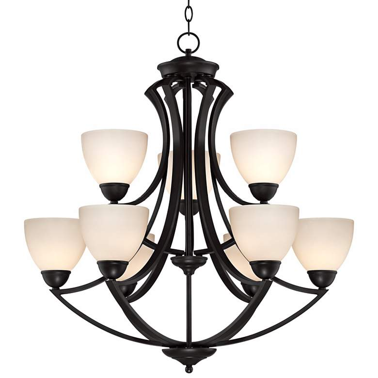 "Milbury Collection Dark Bronze 9-Light 30"" Wide Chandelier more views"