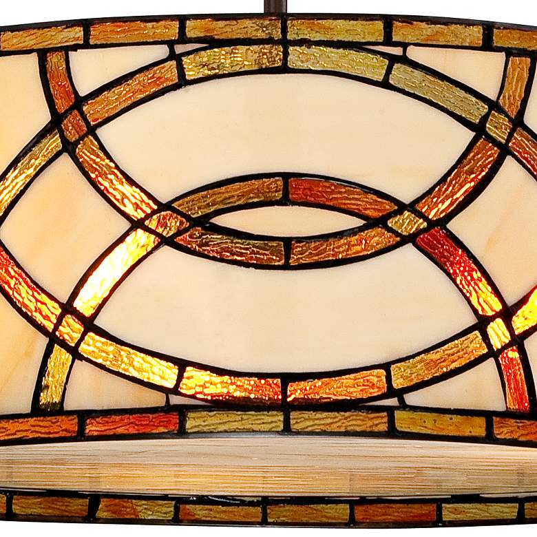 "Art Glass Circles 20""W Tiffany Style Pendant Chandelier more views"