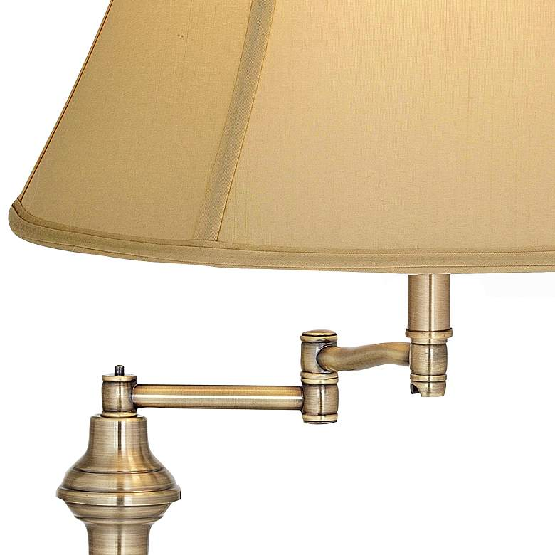 Montebello Collection Antique Brass Swing Arm Floor Lamp more views