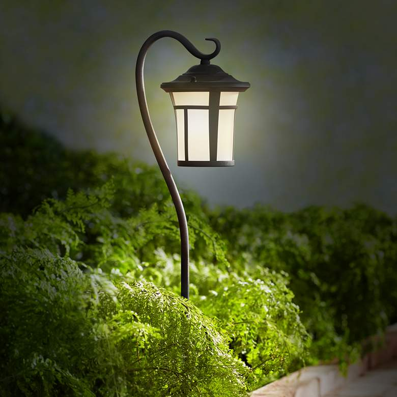 "Shepherd's Hook Black 23"" High LED Landscape Light more views"