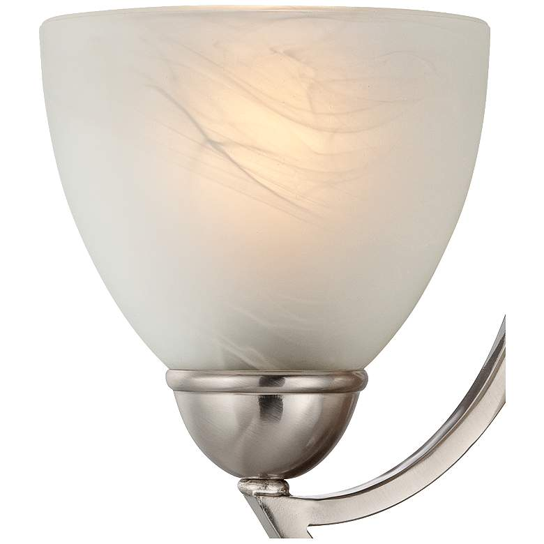 "Possini Euro Milbury 9"" High Marbleized Glass Wall Sconce more views"