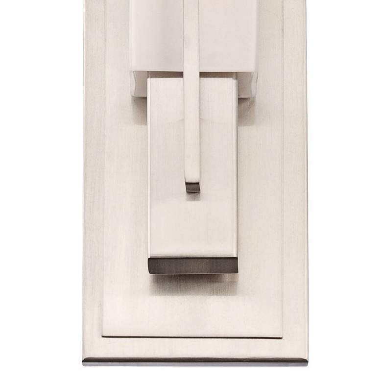 "Possini Euro Midtown 15"" High Satin Nickel Wall Sconce more views"