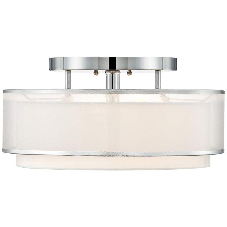 "Possini Euro Design Double Organza 16"" Wide Ceiling Light more views"