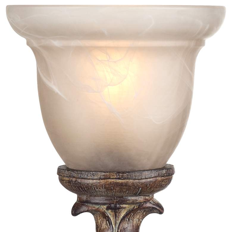 "French Candlestick Beige Wash 18"" High Accent Console Lamp more views"