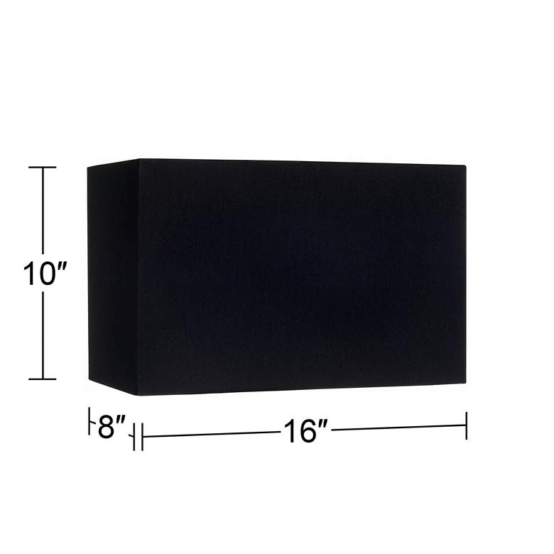 Black Rectangular Hardback Lamp Shade 8/16x8/16x10 (Spider) more views