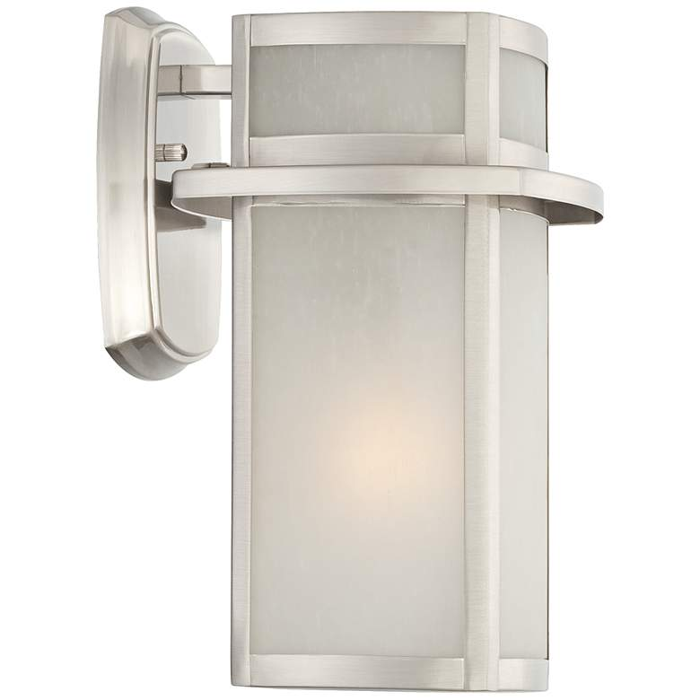 "Delevan 11 1/4"" High Brushed Nickel Outdoor Wall Light more views"