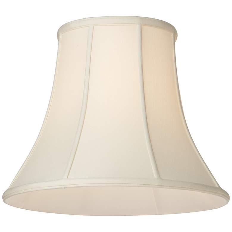 Oyster Silk Bell Lamp Shade 10x20x15 (Spider) more views