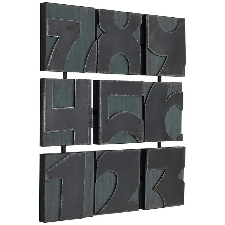 "Metal Numbers 28 1/2"" Square Wall Art more views"
