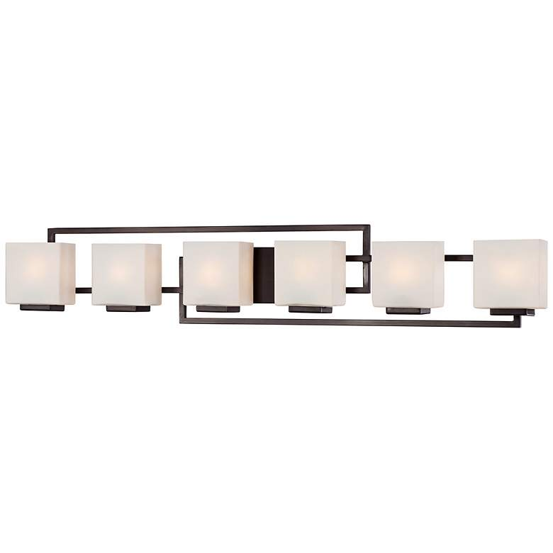 "Lighting on the Square 45"" Wide Bronze Bath Vanity Light more views"