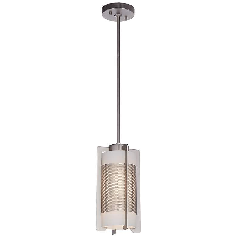 Iron Brushed Steel Bracket Mini Pendant Light more views