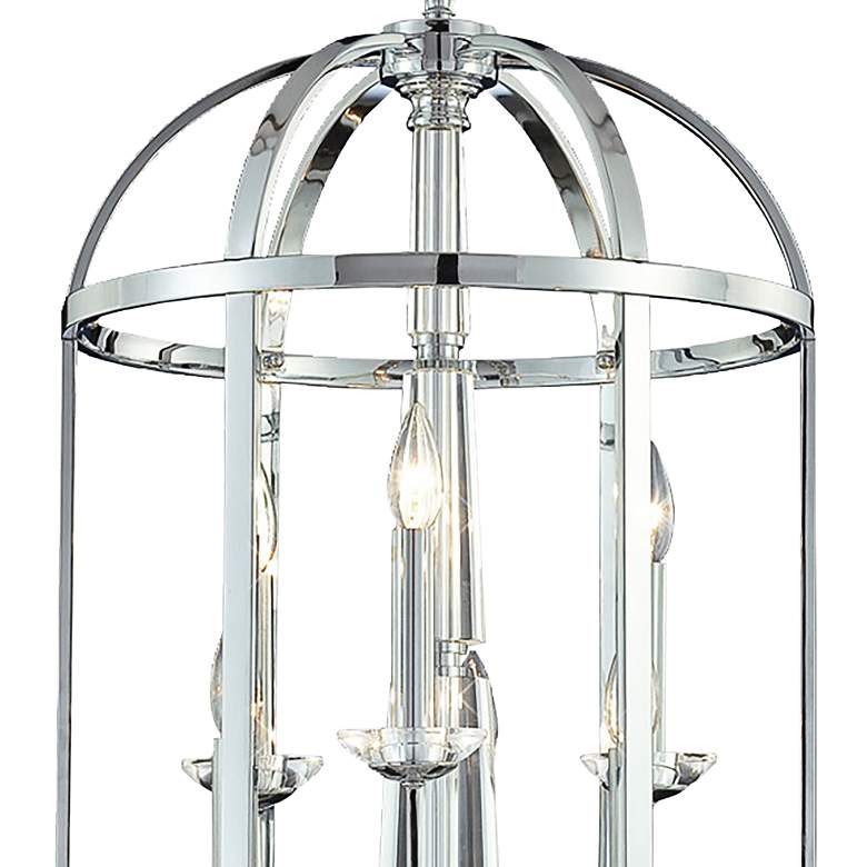 "Eurofase Senze 18"" Wide Chrome 6-Light Lantern Pendant Light more views"