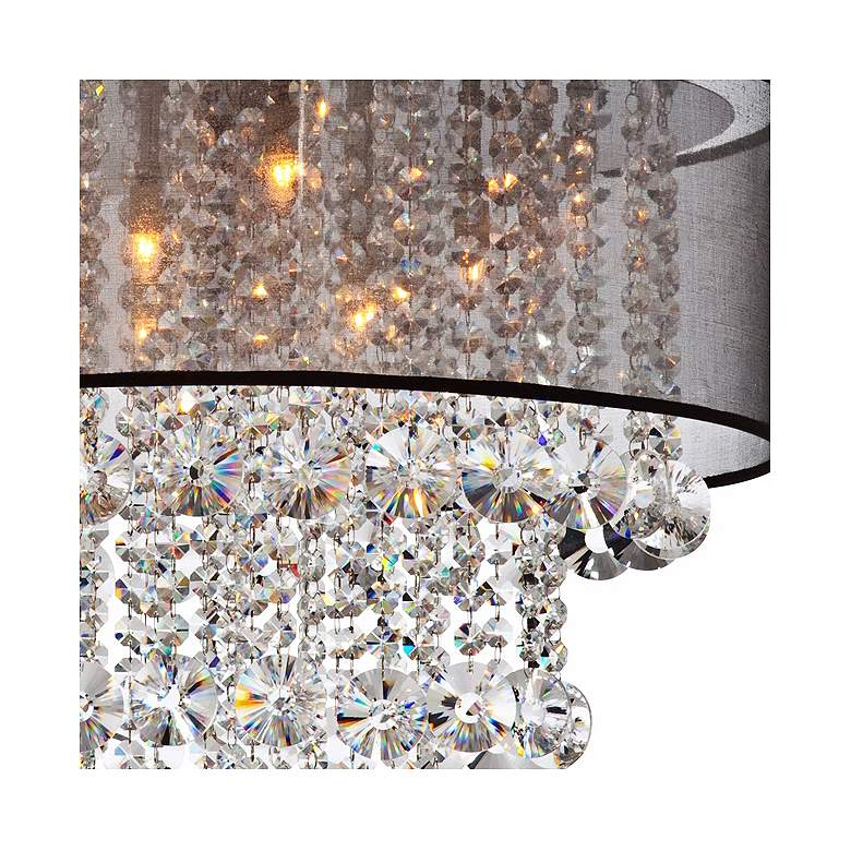 "Possini Euro Bretton 22""W Brushed Nickel Crystal Chandelier more views"