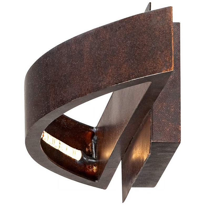 Possini Euro Coppered Arch Indoor-Outdoor LED Wall Sconce more views