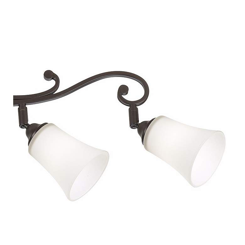 Leaf and Vine White Painted Glass 5-Light Track Fixture more views