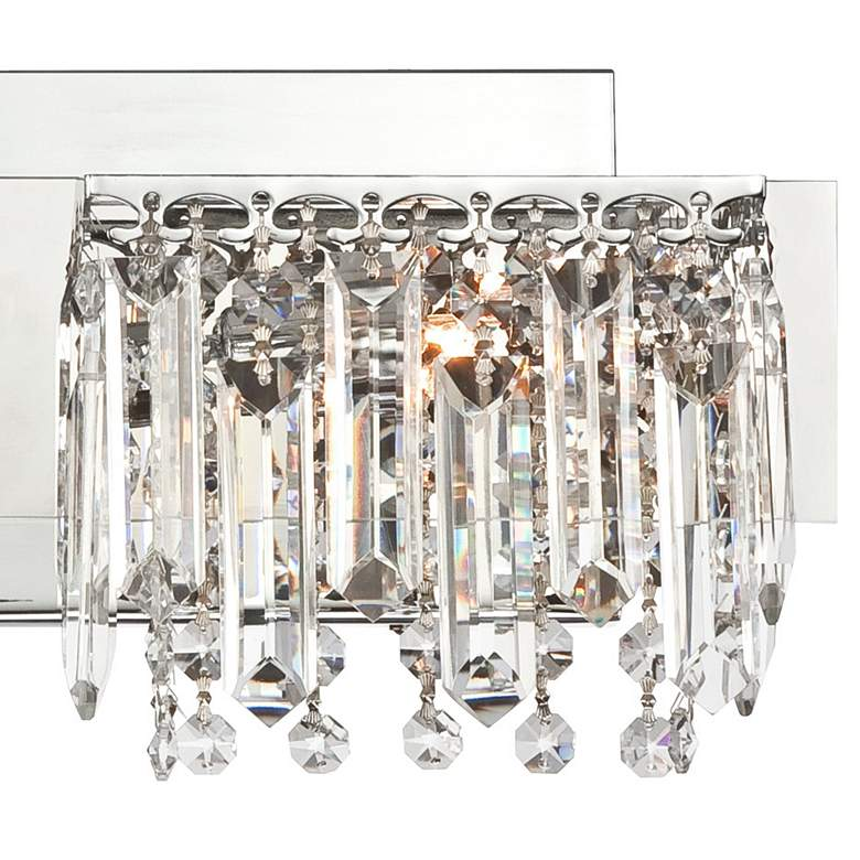 "Possini Euro Hanging Crystal 16 1/2"" Wide Chrome Bath Light more views"