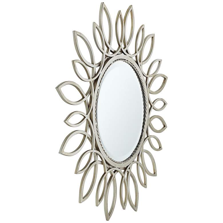 "Silver Daisy 30"" Wide Wall Mirror more views"