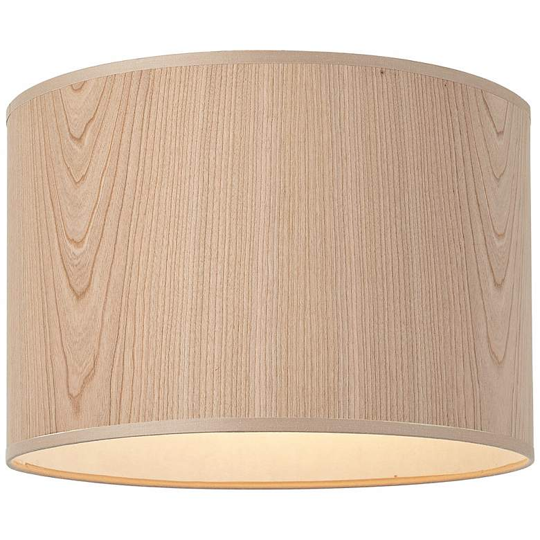 Lights Up! Cherry Wood Veneer Lamp Shade 14x14x10 (Spider) more views