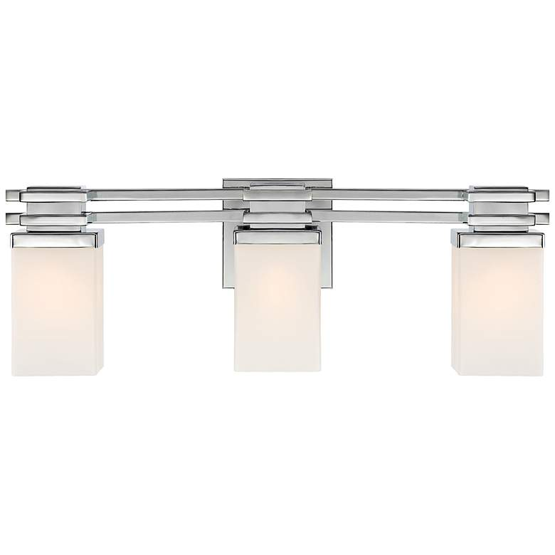 "Bennett Collection Chrome 22"" Wide Bathroom Wall Light more views"