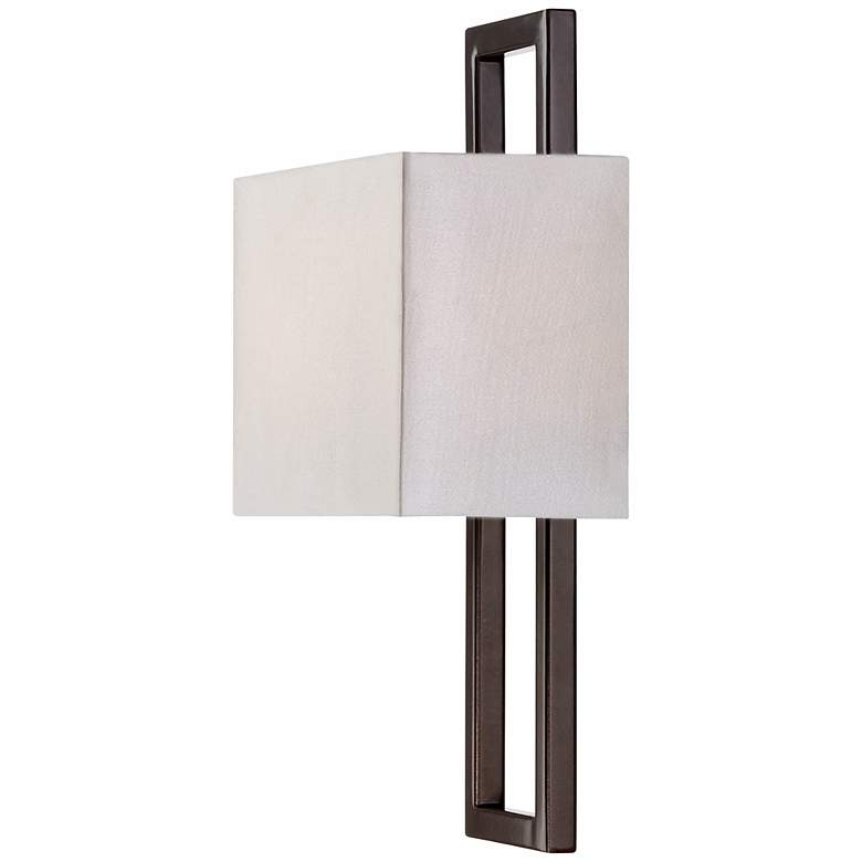 "Possini Euro Bronze 15 1/2"" High Rectangular Wall Sconce more views"