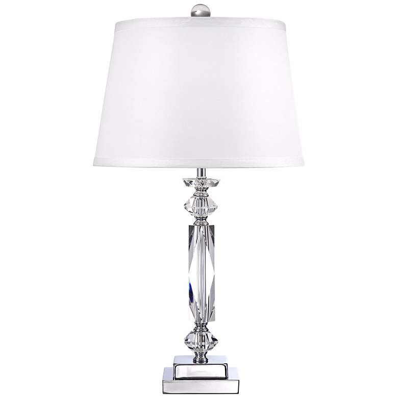 "Cut Crystal Column 23"" High Accent Table Lamp more views"