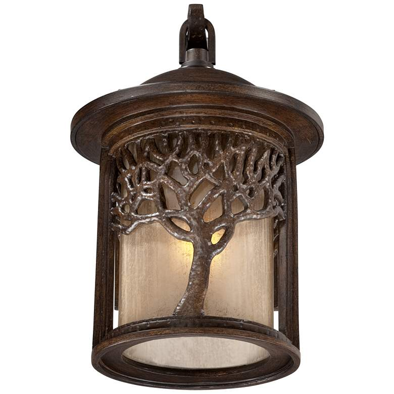 "Bronze Mission Style Tree 12 1/4"" High Outdoor Wall Light more views"