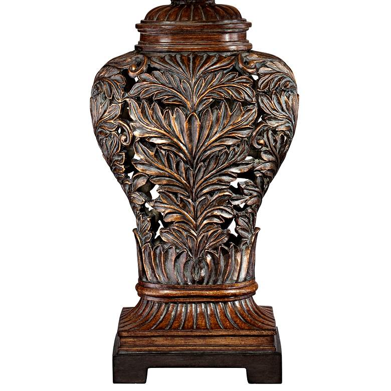 Barnes and Ivy Leafwork Bronze Vase Table Lamp more views