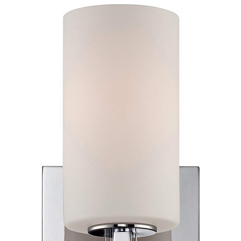 "Possini Euro Ludlow 14"" High Chrome Wall Sconce more views"