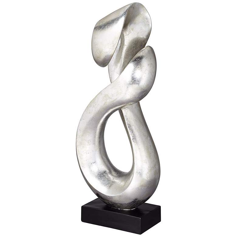 "Open Infinity 26 1/4"" High Sculpture in Silver Finish more views"