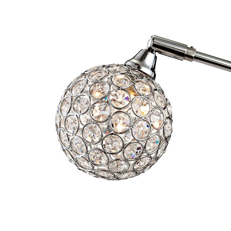 Possini Euro Design Allegra Crystal Ball Arc Floor Lamp more views