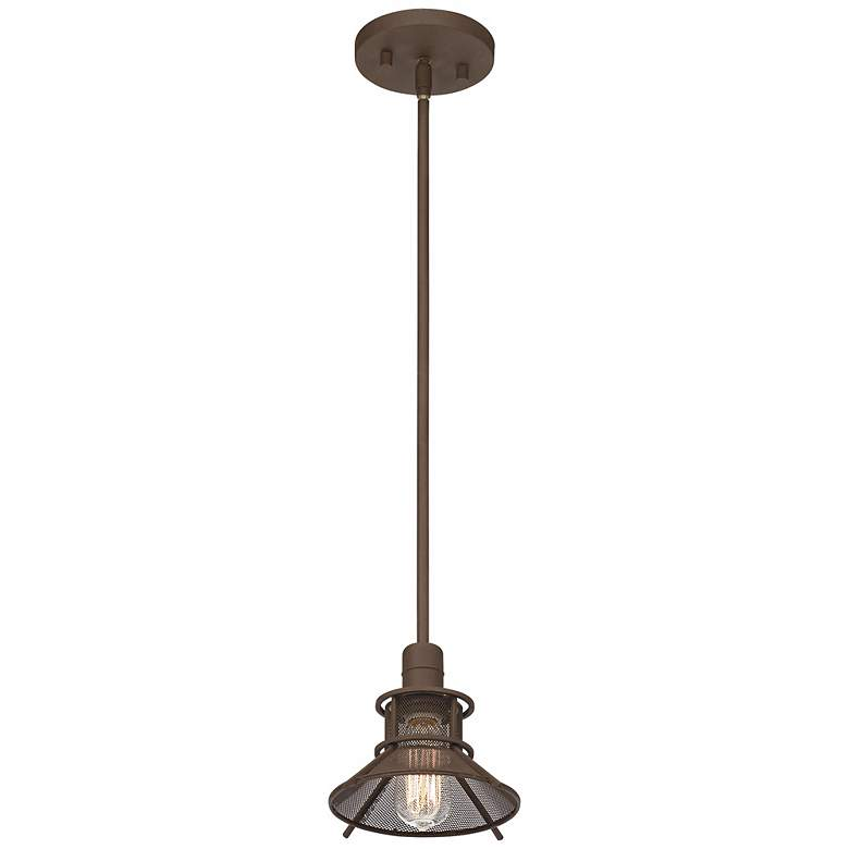 "Glasgow Olde Bronze 8 1/2"" Wide 1-Light LED Mini Pendant more views"