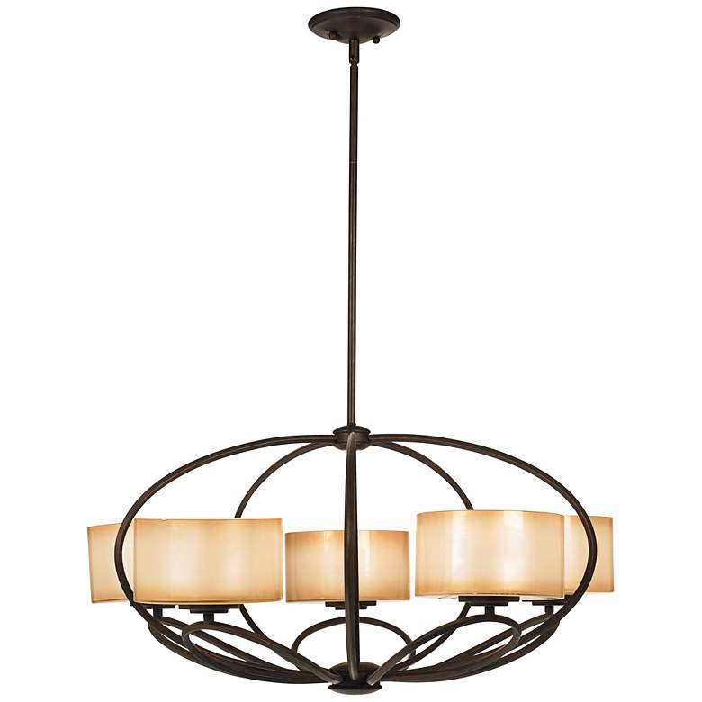 "Possini Euro Petals 32"" Wide Scavo Bronze Chandelier more views"