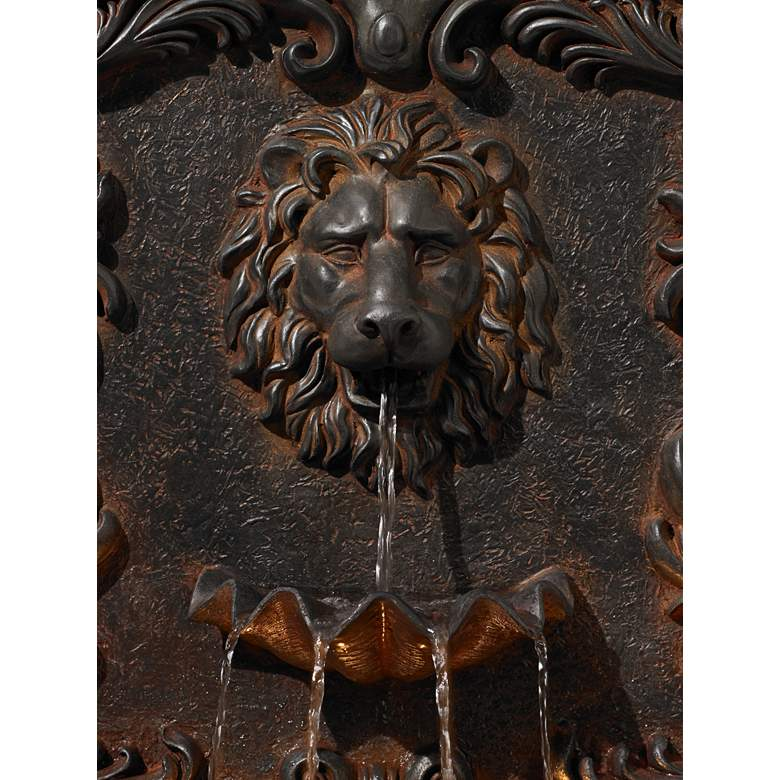 "Imperial Lion Acanthus 50"" High Fountain with LED Light more views"