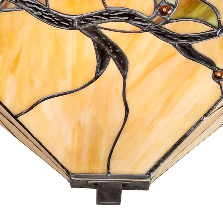 "Budding Branch 14"" Wide Tiffany-Style Ceiling Light more views"
