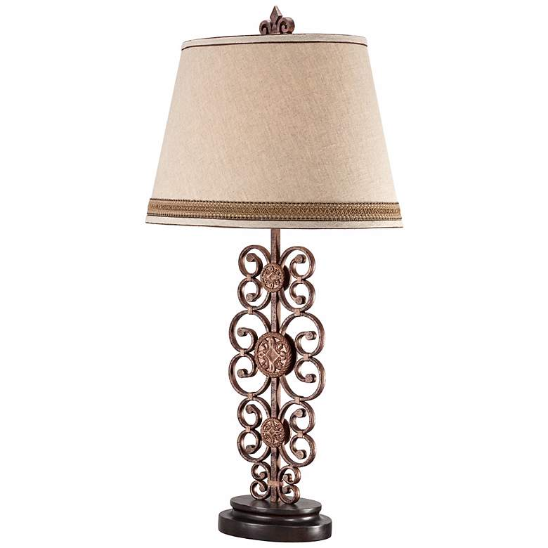 Metal Scroll Medallion Table Lamp more views