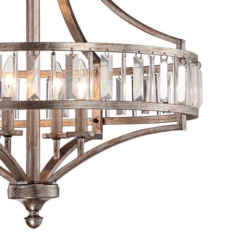 "Soft Silver 4-Light 24"" Wide Crystal Chandelier more views"