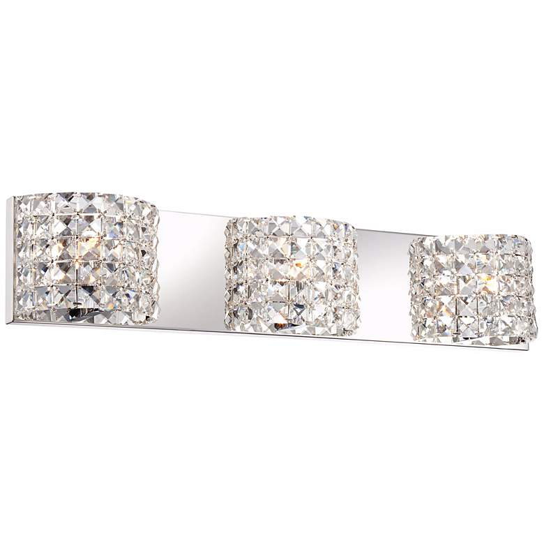 "Cesenna 25 1/2"" Wide Crystal 3-Light Bath Vanity Light more views"