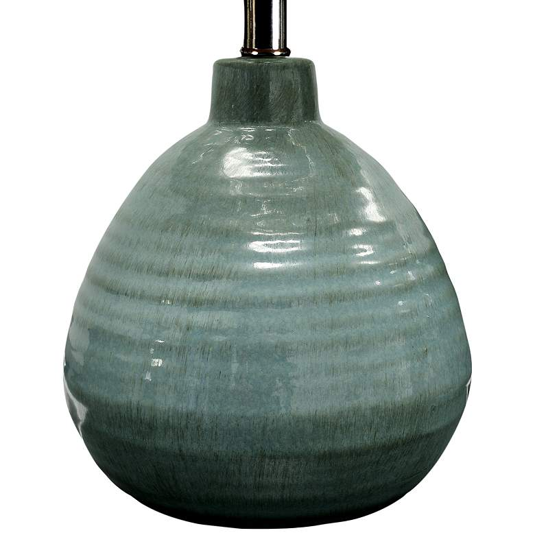 Turkish Blue Ceramic Jar Table Lamp more views